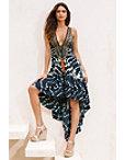 Batik Zebra Frill Maxi Dress Photo