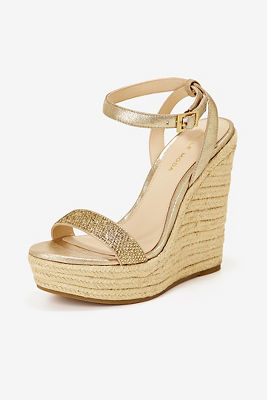 embellished gold wedge