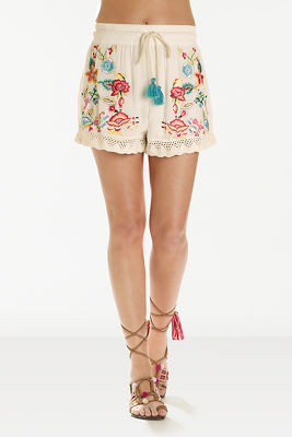 Embroidered drawstring short