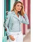 Faux Leather Embroidered Jacket Photo