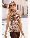 Fierce Leopard Halter Top Photo