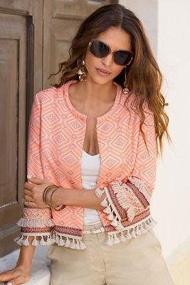 Aztec fringe jacket