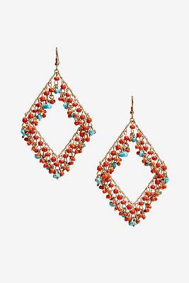 Bright beaded earrings