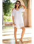 Cold Shoulder Boho Lace Inset Dress Photo
