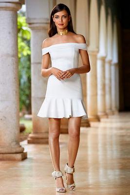 Off-the-shoulder flirty dress