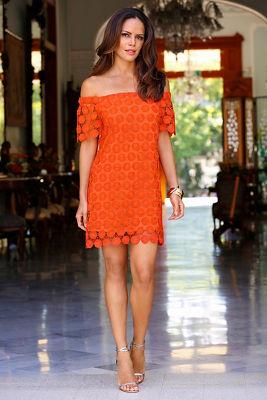 Merengue off-the-shoulder dress