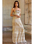 Gold Inset Lace Maxi Dress Photo