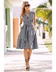 Gingham Wrap Dress Photo