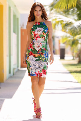 La isla floral sheath dress