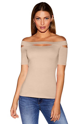 So Sexy&#8482 cutout off-the-shoulder top