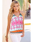 Printed Halter Blouson Top Photo