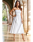 Strapless Wrap Poplin Dress Photo