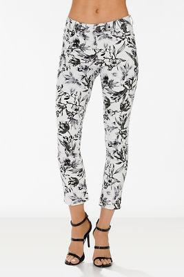 Printed floral jean