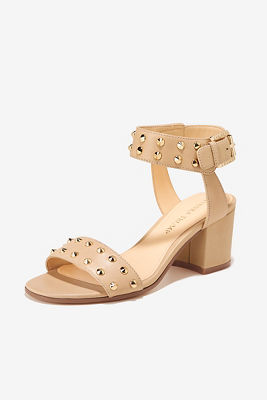 Studded Chunky Heel Sandal