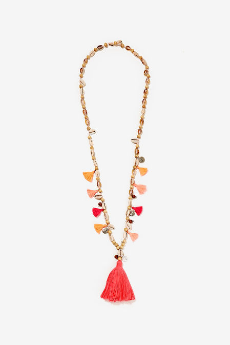 Shell tassel necklace image