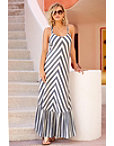 Stripe Braided Back Maxi Dress Photo