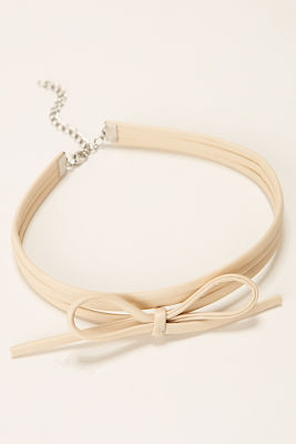 Bow wrap choker necklace