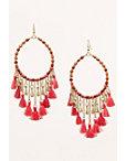 Bright Beaded Tassel Earrings Photo