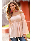 Off-the-shoulder Braided Top Photo