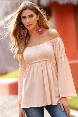 Off-the-shoulder braided top