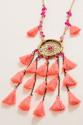 Tassel dreamcatcher necklace