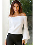 Off-the-shoulder Drama Sleeve Blouse Photo