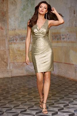 Metallic twist dress