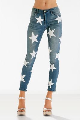Star printed jean