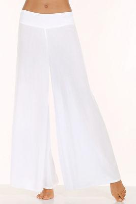 Crinkle wide leg pant