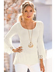 Crochet Sleeve Tunic Top Photo