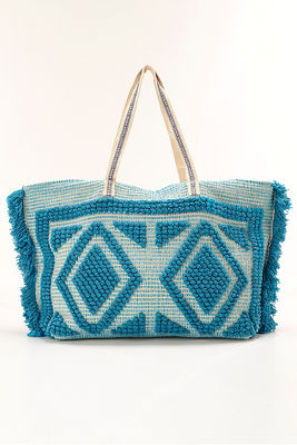 Fringe loop beach bag