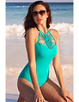 Macrame Front One-piece Swimsuit Photo