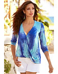 Tie Dye Surplice Long Sleeve Top Photo