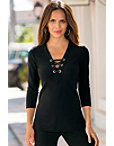Travel Lace Up Tunic Top Photo