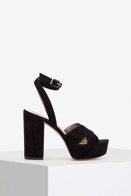 Ankle wrap platform sandal