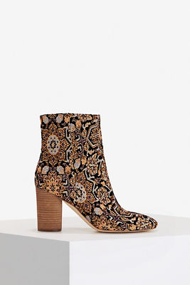 Brocade Ankle Bootie