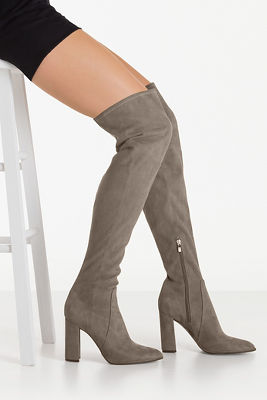 Over-the-knee suede boot