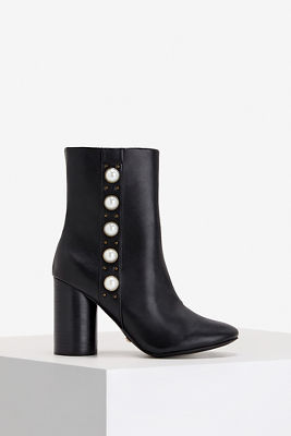 Pearl Detail Ankle Bootie