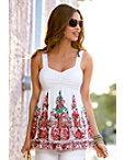 Embroidered Babydoll Top Photo