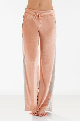 Colorblock velour pant