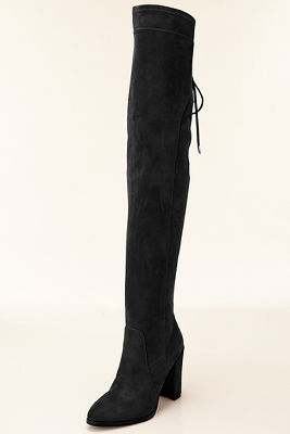Black over-the-knee boot
