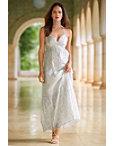 Metallic Stripe Maxi Dress Photo