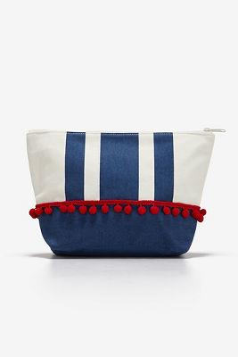 Striped Americana clutch