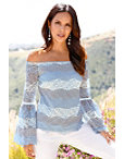 Shades Of Blue Lace Top Photo