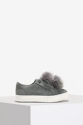 Gray pouf sneaker