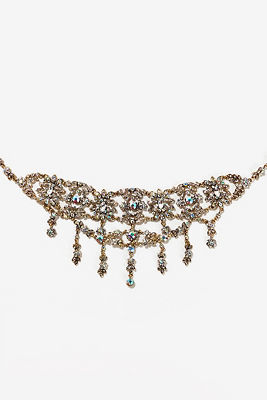 Crystal chandelier choker necklace