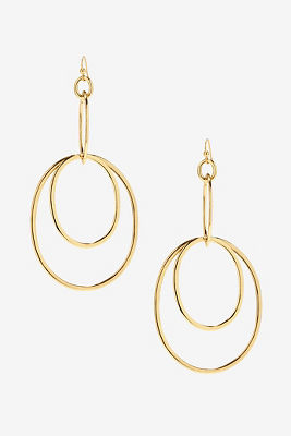 Dangle multi hoop earrings