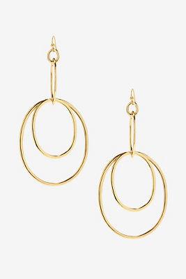 Dangle multi hoop earrings