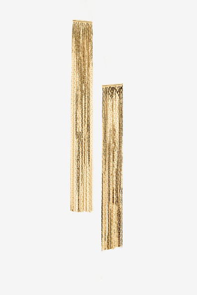 Long Gold Fringe Earrings
