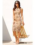 Metallic Floral Dress Photo